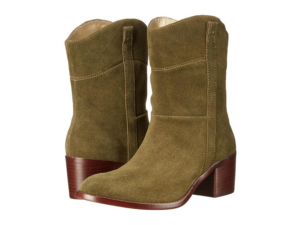 Adrienne Vittadini - Fonzie (Khaki Burnished Split Suede) Women's Zip Boots