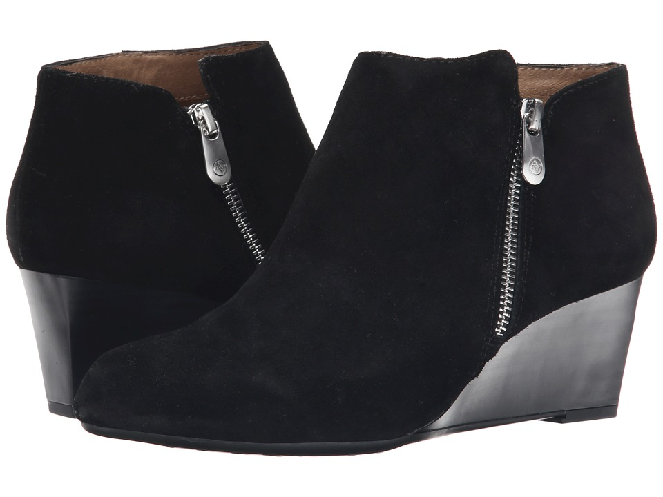 Adrienne Vittadini - Meriel (Black Burnished Split Suede) Women's Zip Boots