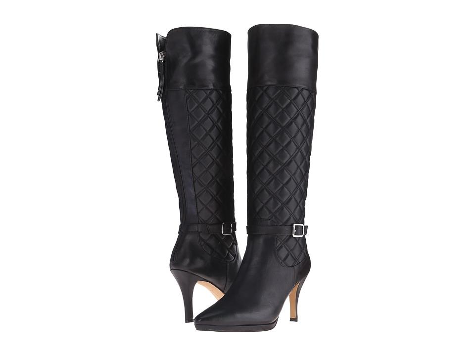Adrienne Vittadini - Jabine (Black Soft Calf) Women's Zip Boots
