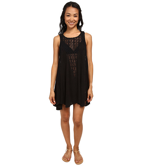 Billabong - High Road Cover-Up Dress (Black) Women's Swimwear