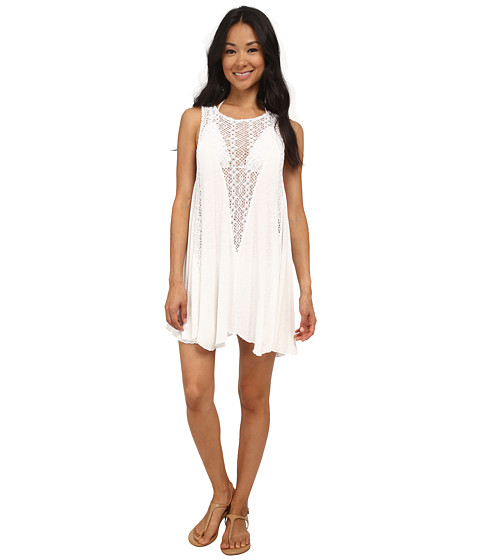 Billabong - High Road Cover-Up Dress (White) Women's Swimwear