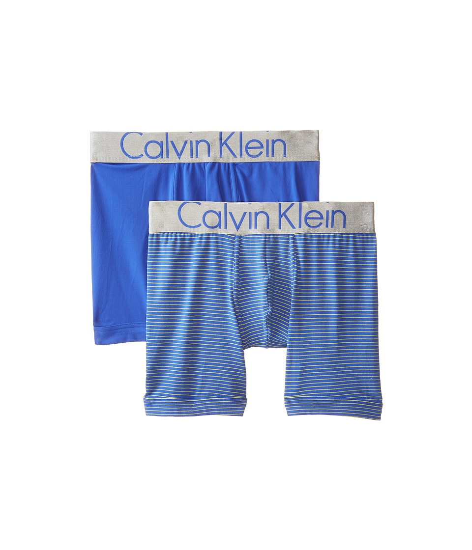 Calvin Klein Underwear - Steel Boxer Brief 2-Pack U27192P (Cobalt Water) Men's Underwear