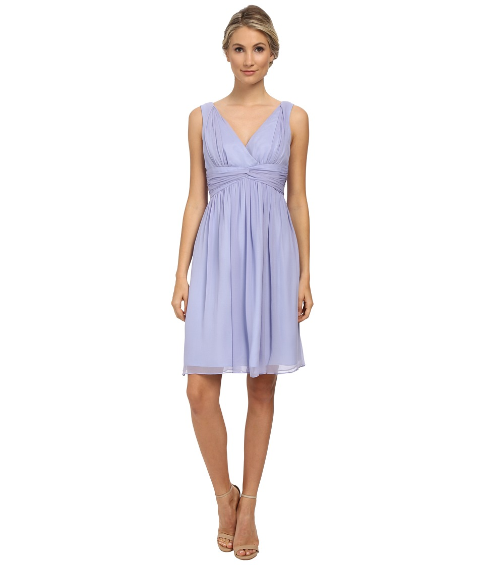 Donna Morgan - Jessie Short Bra Friendly Chiffon (Iris) Women's Dress