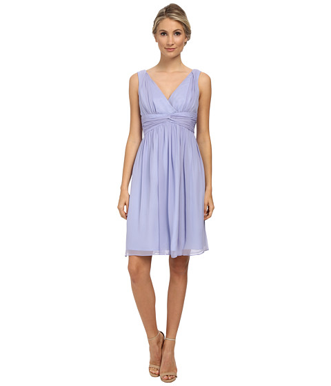 Donna Morgan - Jessie Short Bra Friendly Chiffon (Iris) Women's Dress