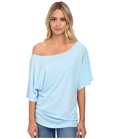 Michael Stars - S/S Slub Off-Shoulder Dolman (Newport) Women's Short Sleeve Pullover