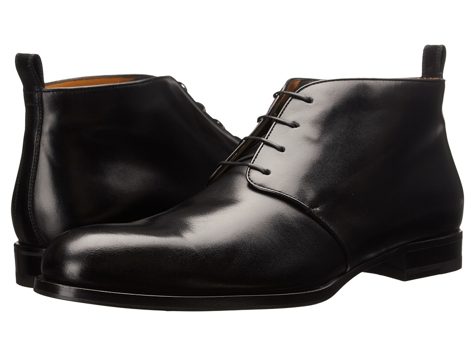 a. testoni - Lux Calf Chukka Boot (Nero) Men's Dress Boots