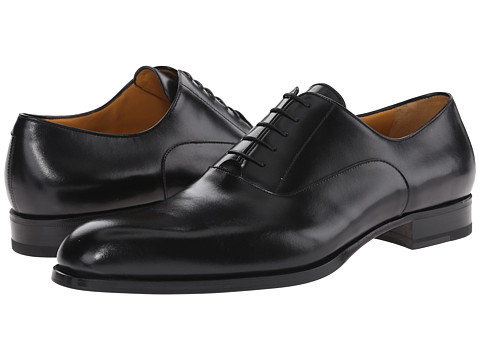 a. testoni - Liscia/Delave Oxford with Half Rubber Sole (Nero) Men's Lace up casual Shoes