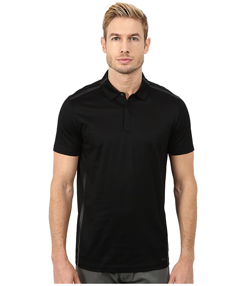 HUGO - Desper 10182562 01 (Black) Men's Short Sleeve Knit