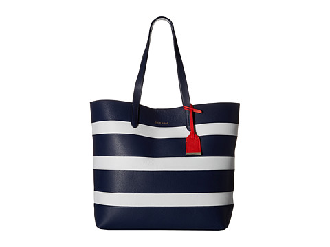 Cole Haan - Palermo Tote (Blue White Stripe) Tote Handbags