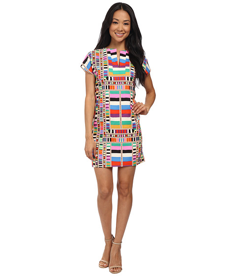 Mara Hoffman - CDC Cap Sleeve Tunic Dress (Riser Rainbow) Women