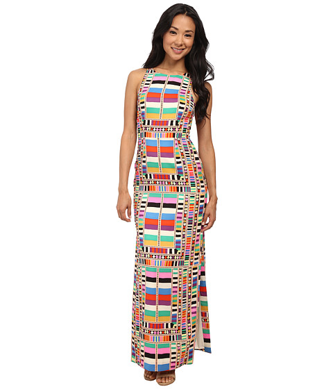 Mara Hoffman - Cutout Back Column Dress (Riser Rainbow) Women's Dress