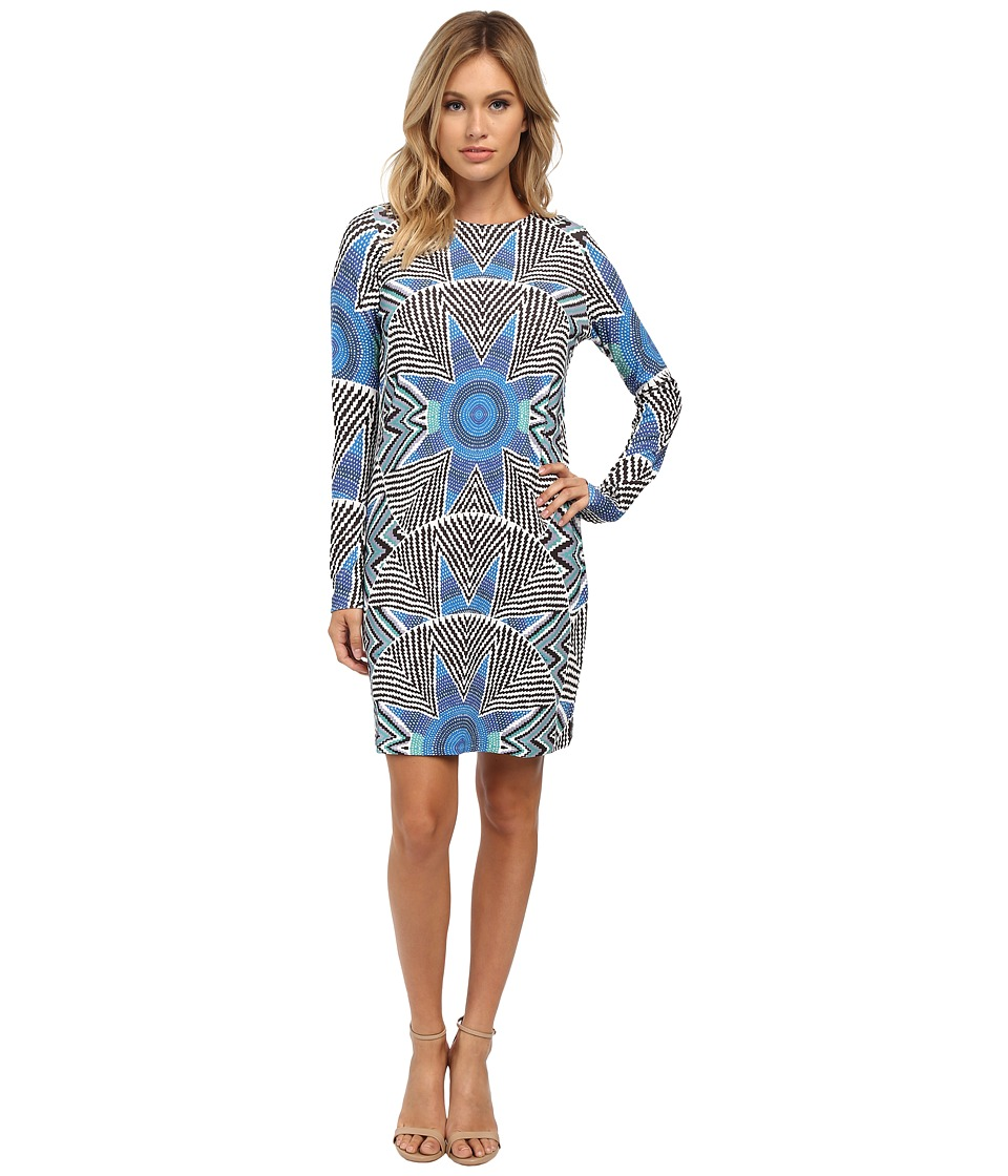 Mara Hoffman - Long Sleeve Ponte Shift Dress (Star Basket Blue) Women's Dress