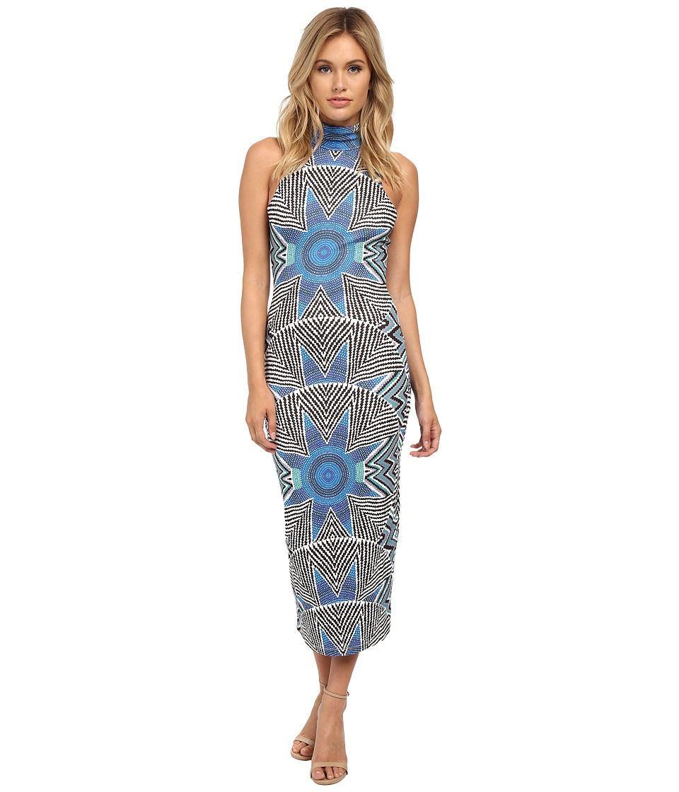 Mara Hoffman - Turtleneck Midi Dress (Star Basket Blue) Women's Dress