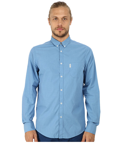 Ben Sherman - Long Sleeve End On End Woven MA10110A (Turkish Sea) Men's Long Sleeve Button Up