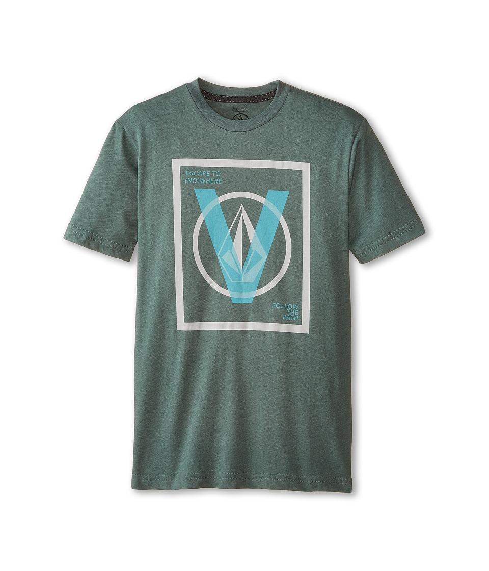 Volcom Kids - V Entry Short Sleeve Tee (Big Kids) (Forest) Boy's T Shirt