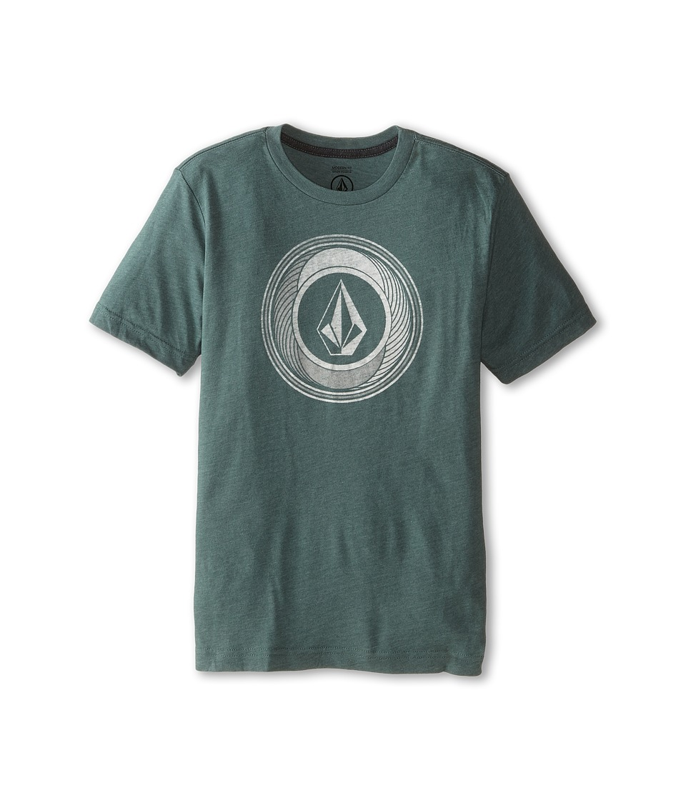 Volcom Kids - Sprinklers Stone Short Sleeve Tee (Big Kids) (Forest) Boy's T Shirt