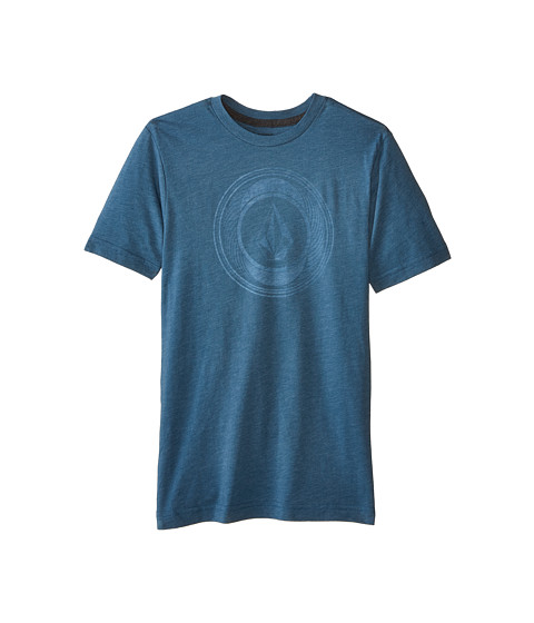 Volcom Kids - Sprinklers Stone Short Sleeve Tee (Big Kids) (Sun Faded Indigo) Boy