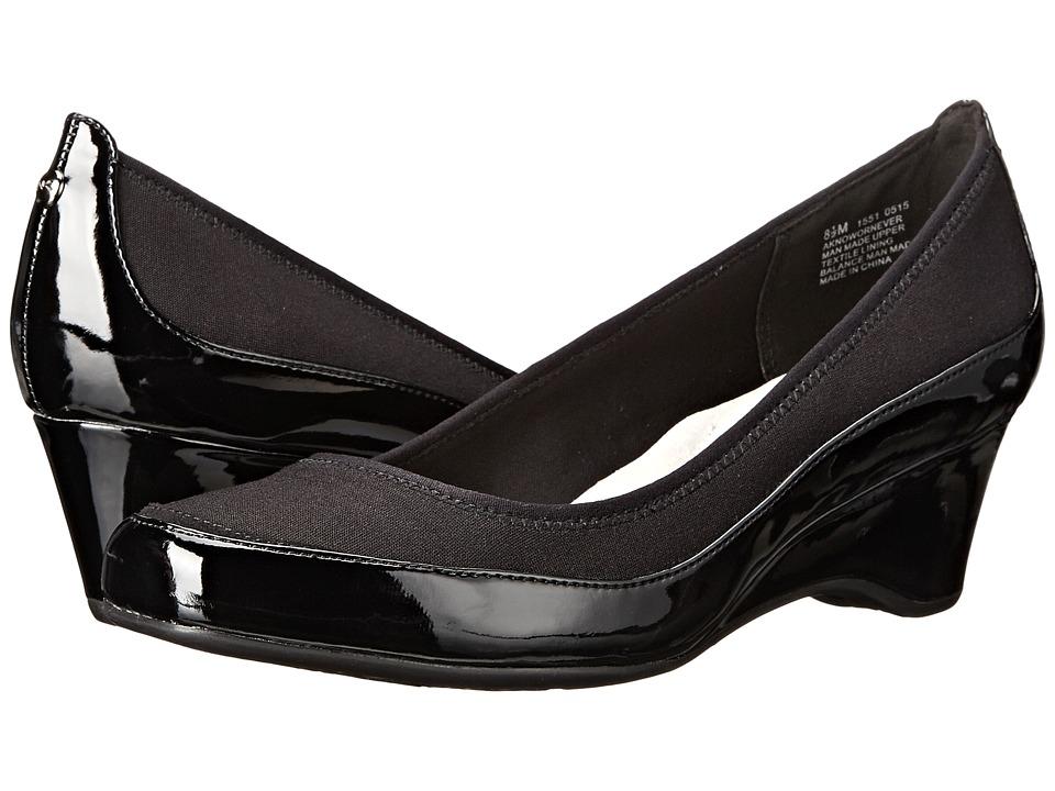 Womens Shoes Anne Klein Nowornever Black Fabric