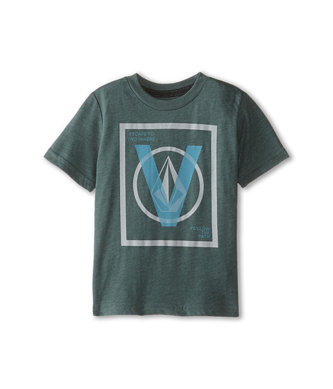 Volcom Kids - V Entry Short Sleeve Tee (Toddler/Little Kids) (Forest) Boy's T Shirt