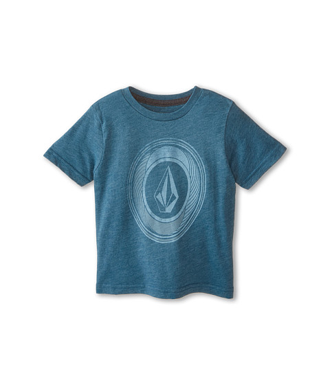 Volcom Kids - Sprinklers Stone Short Sleeve Tee (Toddler/Little Kids) (Sun Faded Indigo) Boy's T Shirt