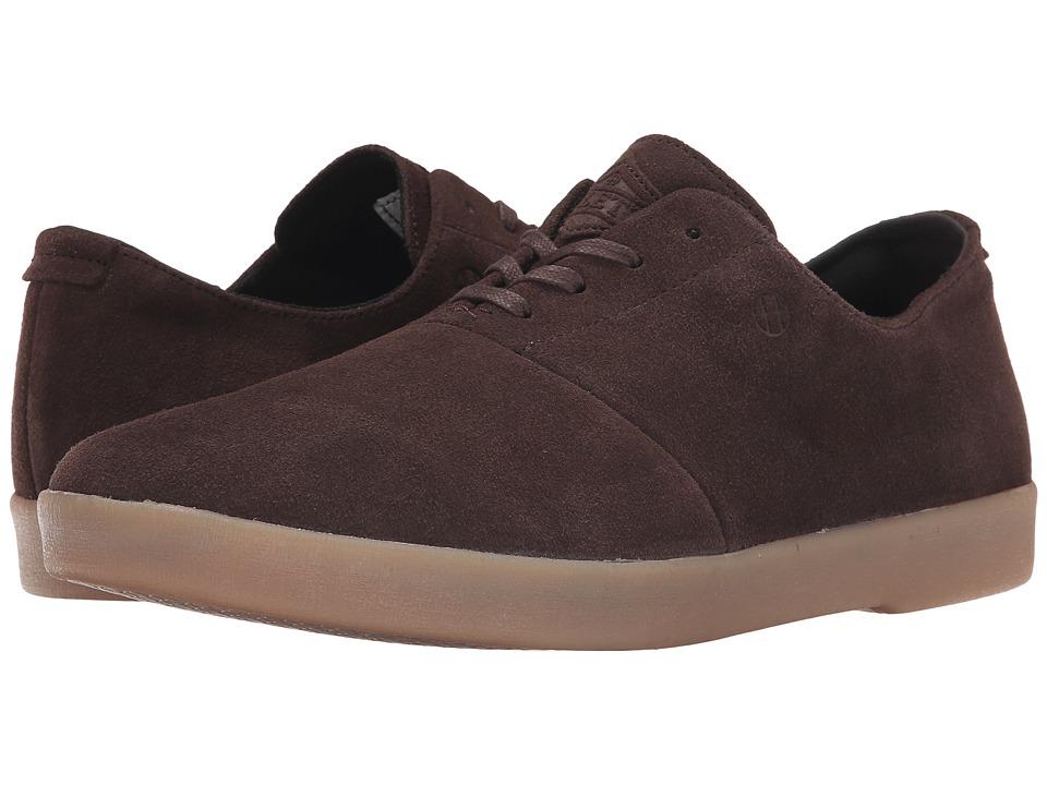 HUF - Gillette (Brown/Light Gum) Men's Skate Shoes
