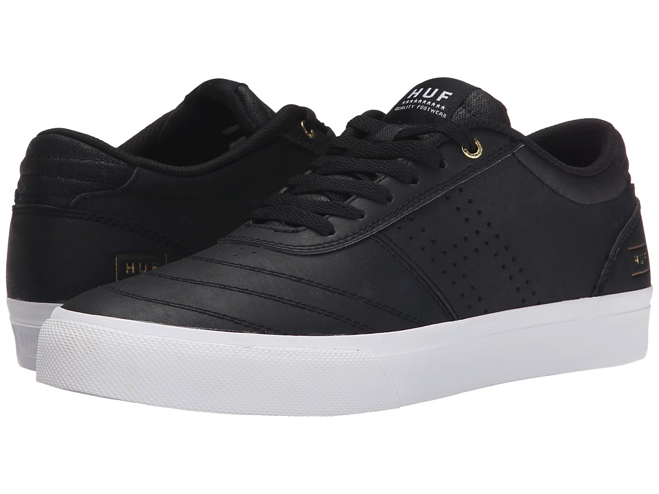 HUF - Galaxy (Black Leather/White) Men's Skate Shoes