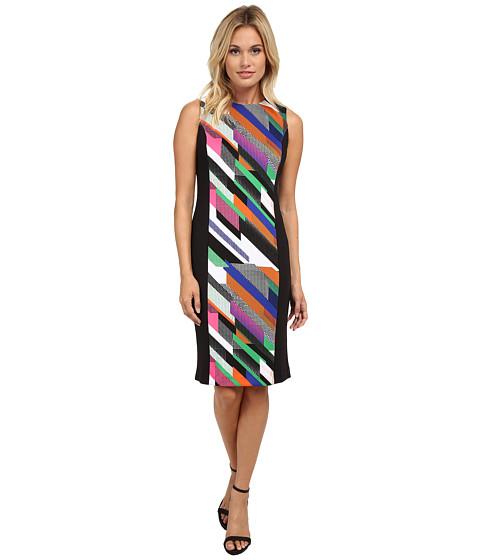 Calvin Klein - Print Blockd Scuba Sheath (Fern Combo) Women