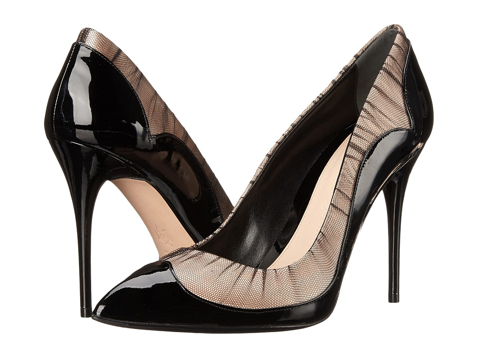 Alexander McQueen - Scarpa Tessu S.Cuoio (Black/Nude/Black) High Heels