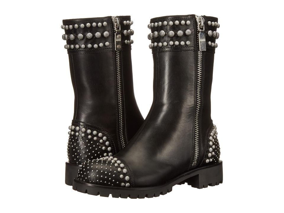 Alexander McQueen - Stivale Pell S.Cuoio (Black) Women's Zip Boots
