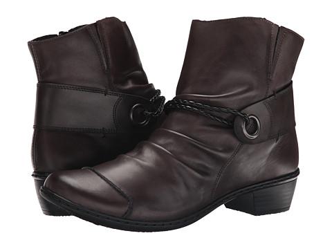 Rieker - 72862 Louise 62 (Graphite/Graphite/Schwarz) Women's Zip Boots