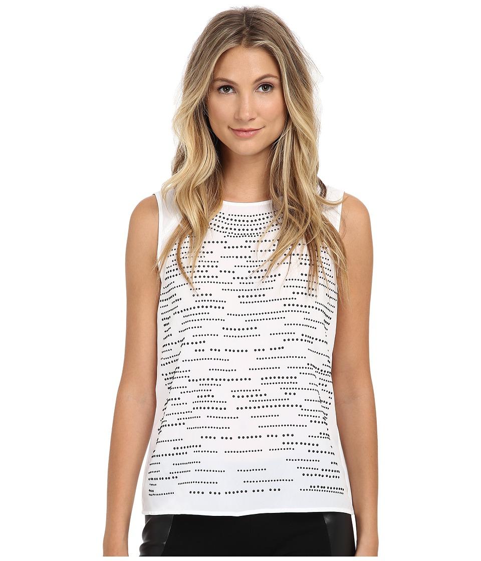 Calvin Klein - Shell w/ Matte Stud Layout (Soft White) Women