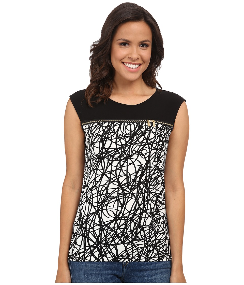Calvin Klein - Sleeveless Top w/ Horizontal Zips (String) Women