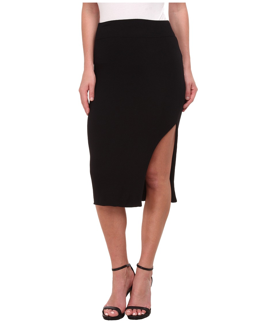 LNA - Double Layer Pencil Skirt (Black) Women