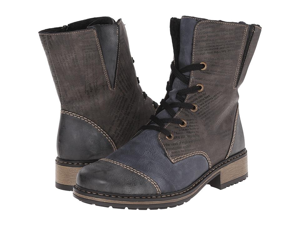 Rieker - Z6814 Philippa 14 (Smoke/Ozean/Basalt) Women's Boots