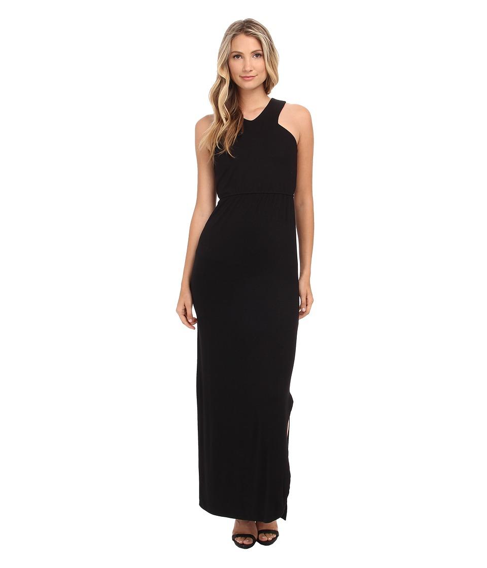 LNA - Nara Maxi Dress (Black/Black) Women's Dress