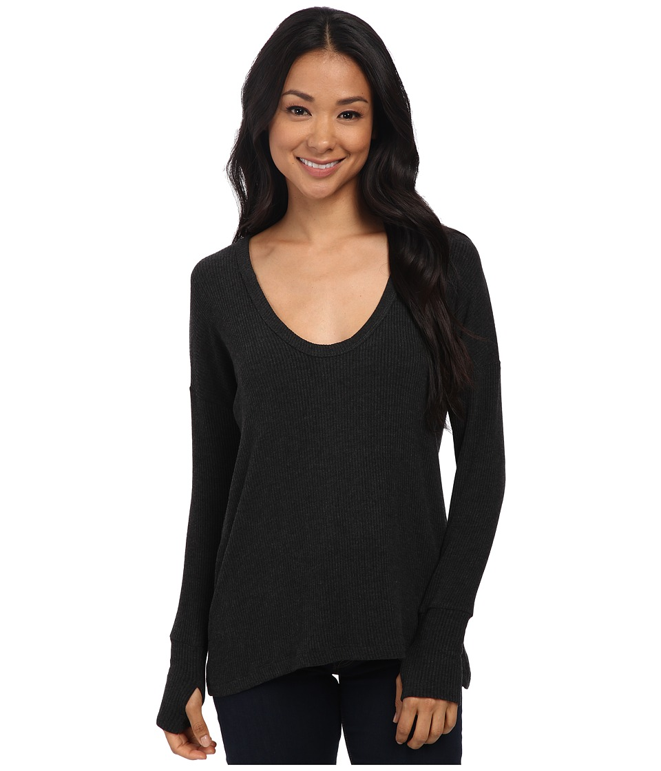 LNA - Relaxed U Sweater (Charcoal) Women's Sweater