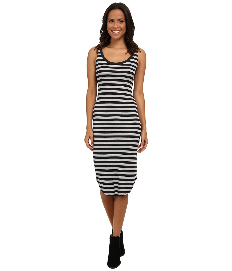 LNA Waffle Tank Dress (Charcoal/Ice Stripe) Women