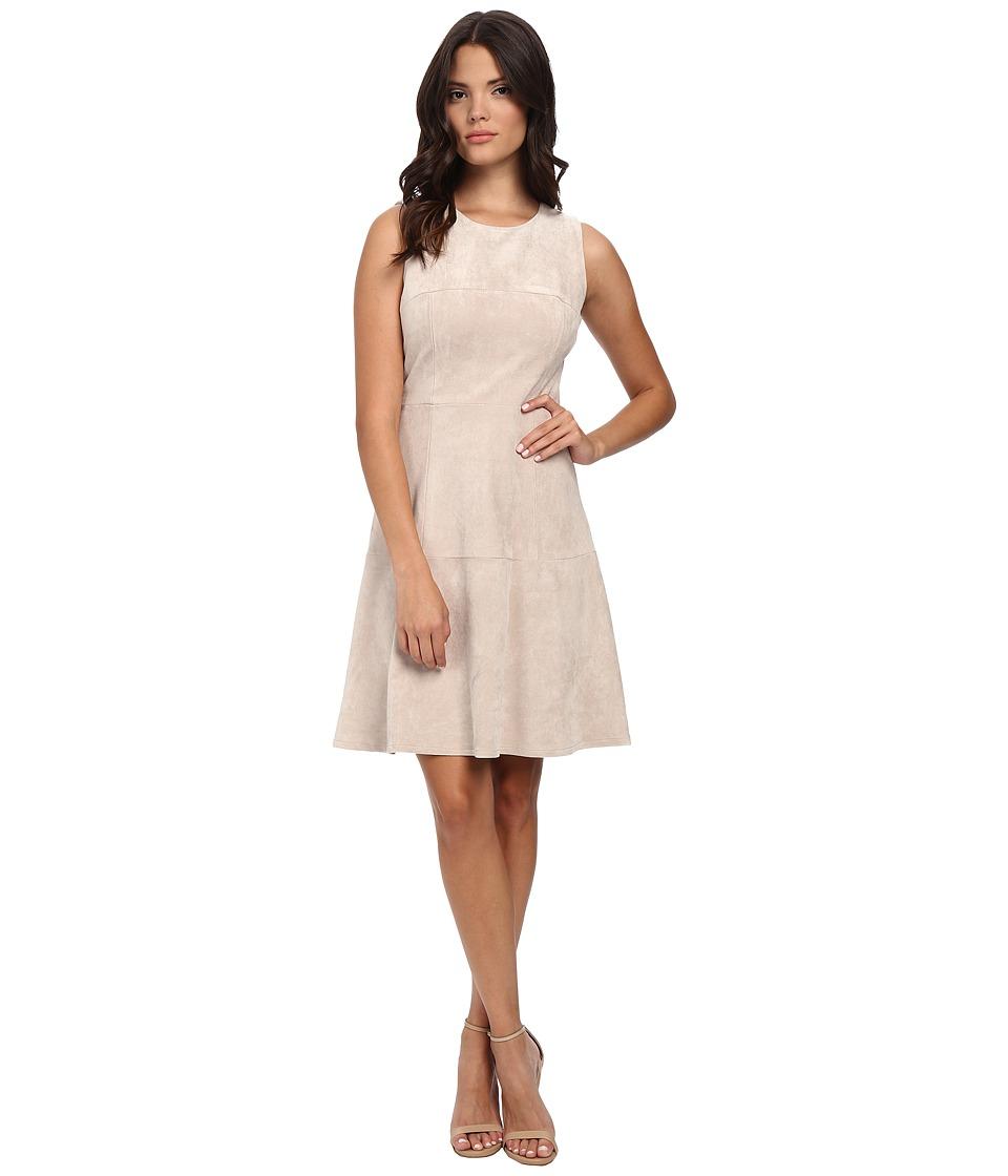 Calvin Klein - Fit Flare Dress (Latte) Women's Dress