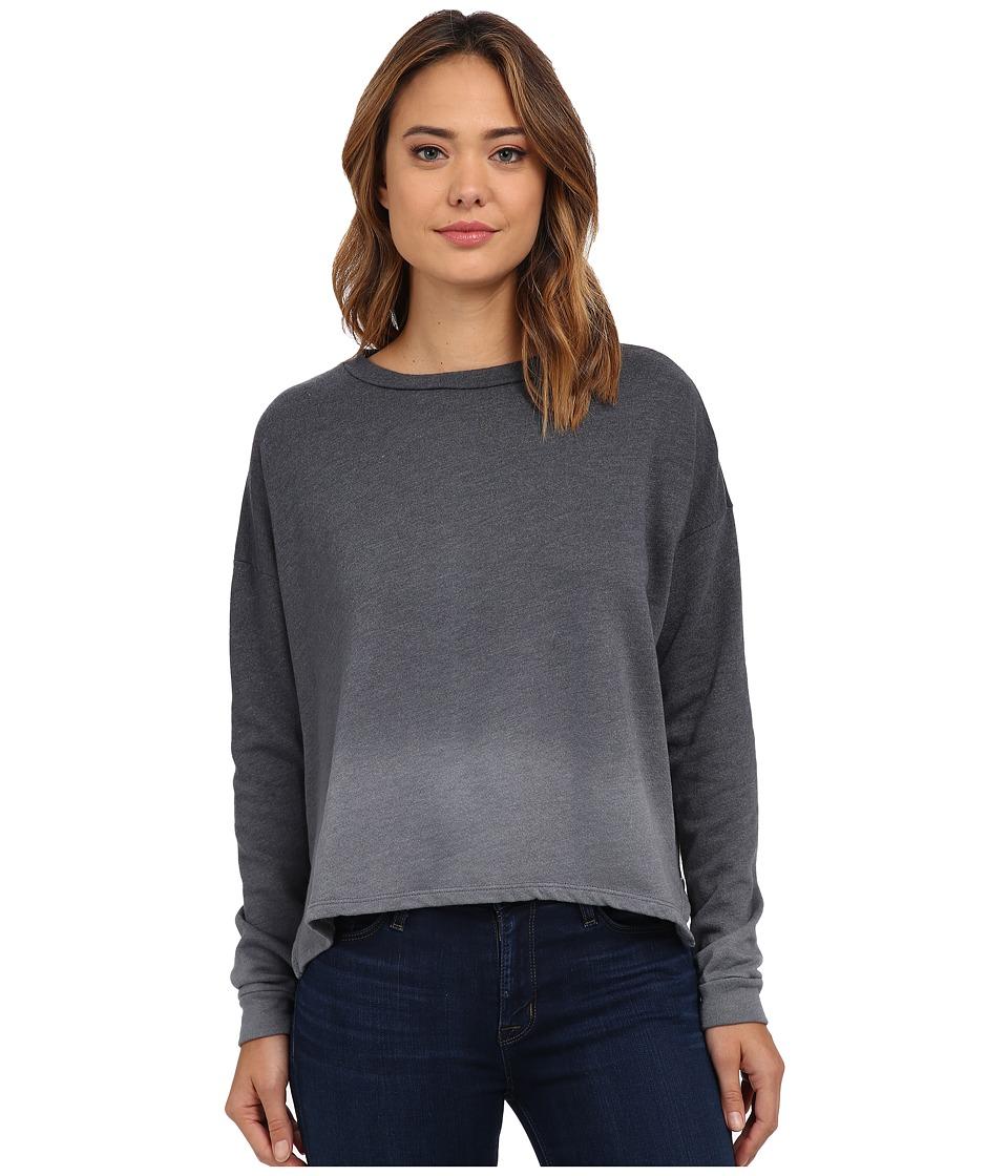 LNA - Ombre Backtail Sweatshirt (Black Ombre Dye) Women
