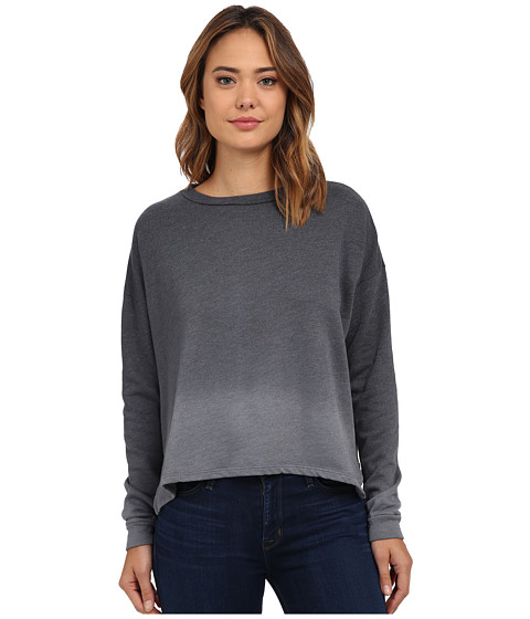 LNA - Ombre Backtail Sweatshirt (Black Ombre Dye) Women's Sweatshirt