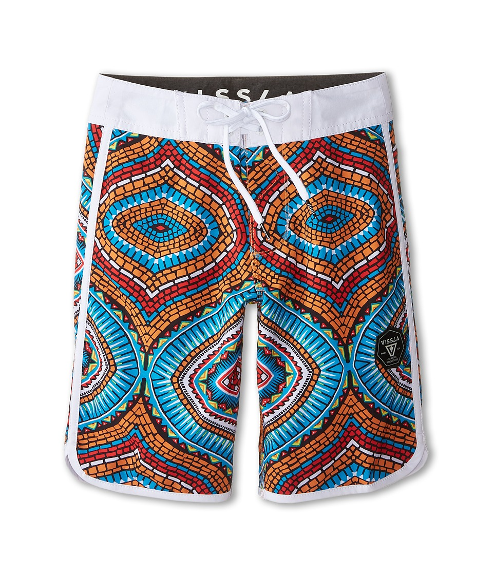 VISSLA Kids - Namibia Coast Boardshorts (Big Kids) (Royal) Boy's Swimwear