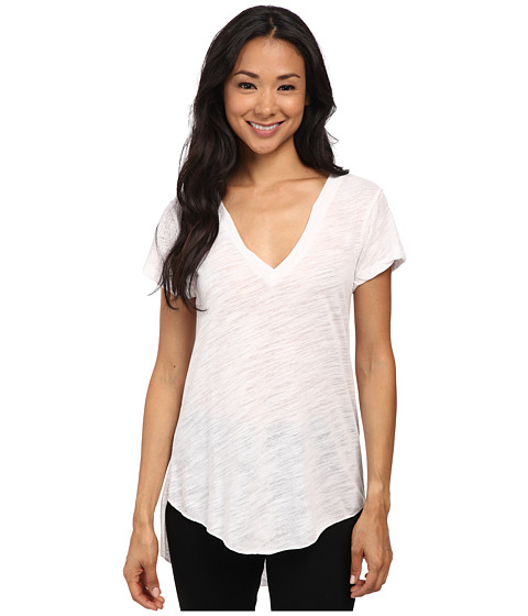 LNA - James V-Neck Tee (White) Women's T Shirt