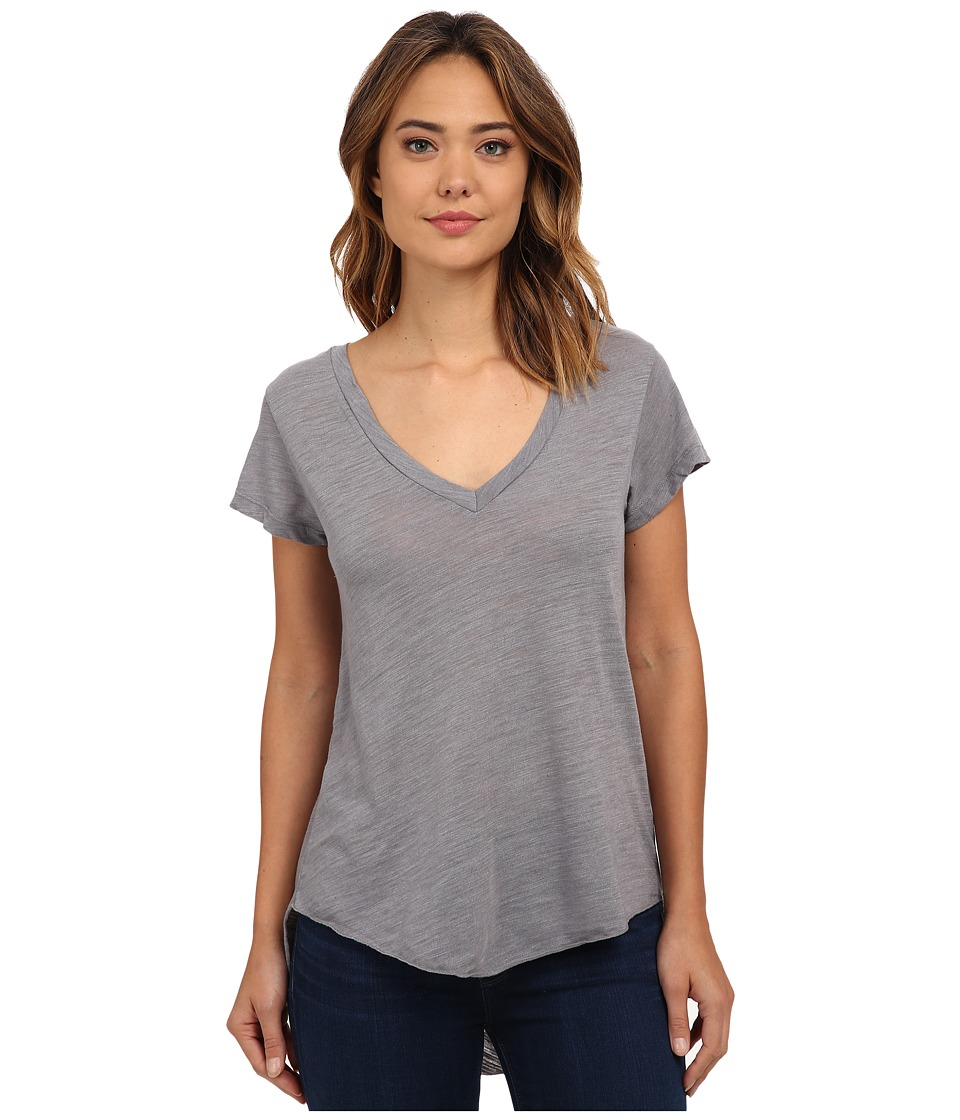 LNA - James V-Neck Tee (Off Black) Women