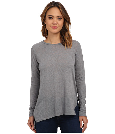 LNA - Ara Long Sleeve Tee (Off Black) Women