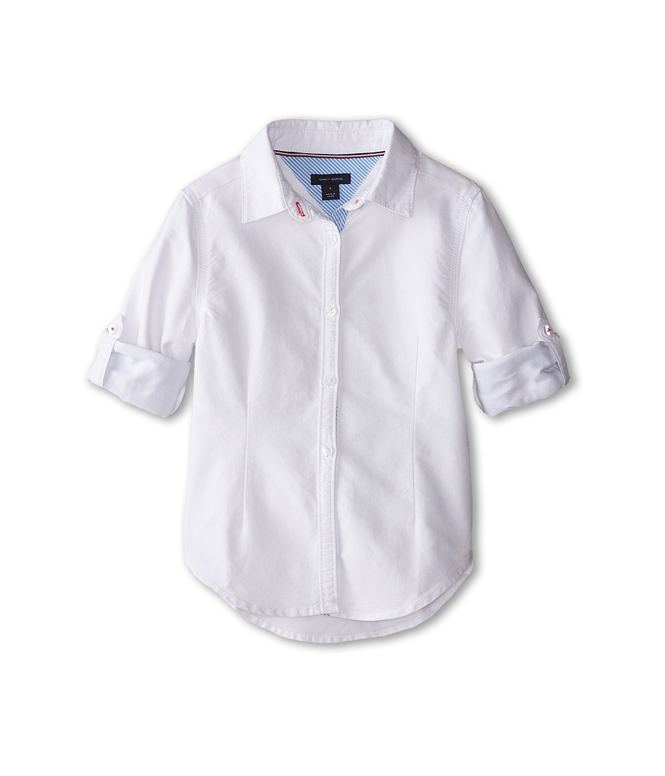 Tommy Hilfiger Kids - Classic Shirt (Little Kids) (White) Girl's Clothing
