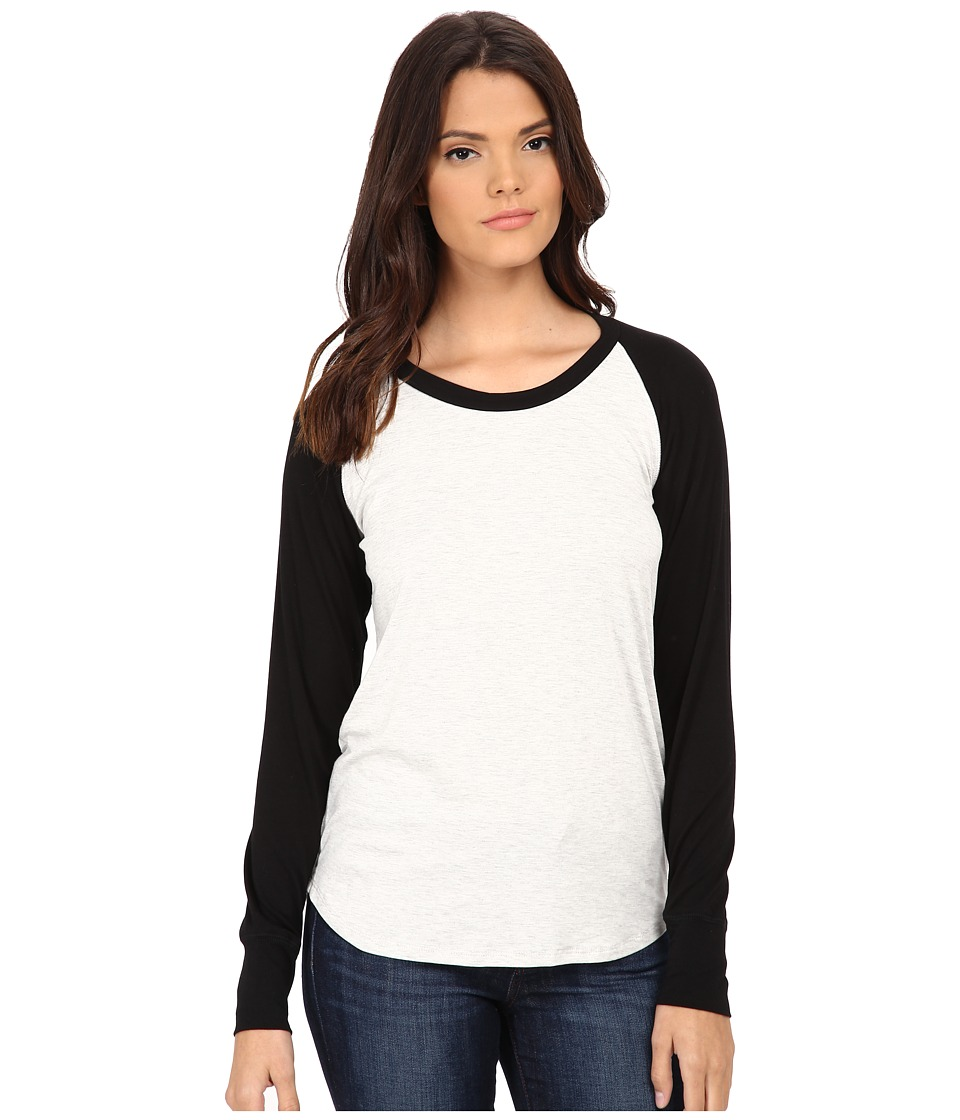 LNA - Long Sleeve Vintage Baseball Tee (Ash/Black) Women's T Shirt