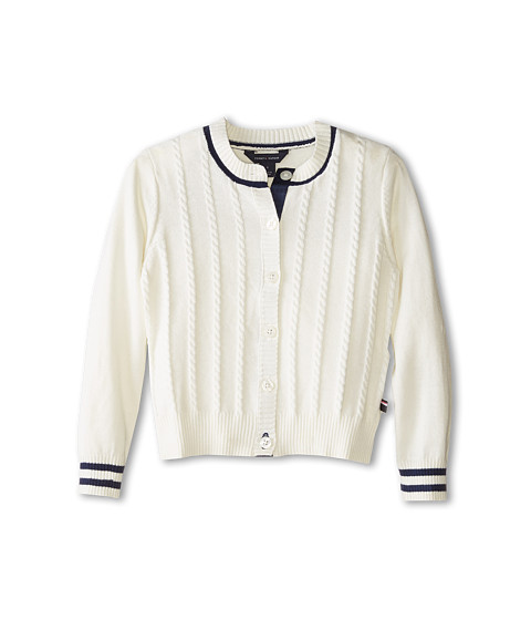 Tommy Hilfiger Kids - Mini Cable Sweater (Little Kids) (Off White) Girl