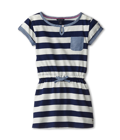 Tommy Hilfiger Kids - Yarn Dyed Jersey Stripe T-Shirt Dress (Little Kids) (Flag Blue) Girl's Dress