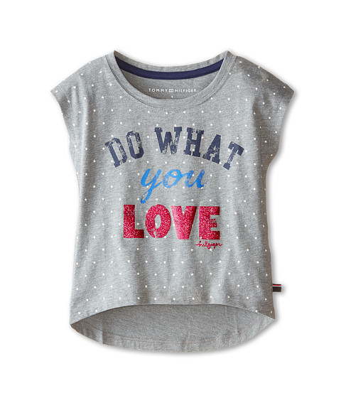 Tommy Hilfiger Kids - Do What You Love Graphic Tee (Little Kids) (Storm Heather) Girl