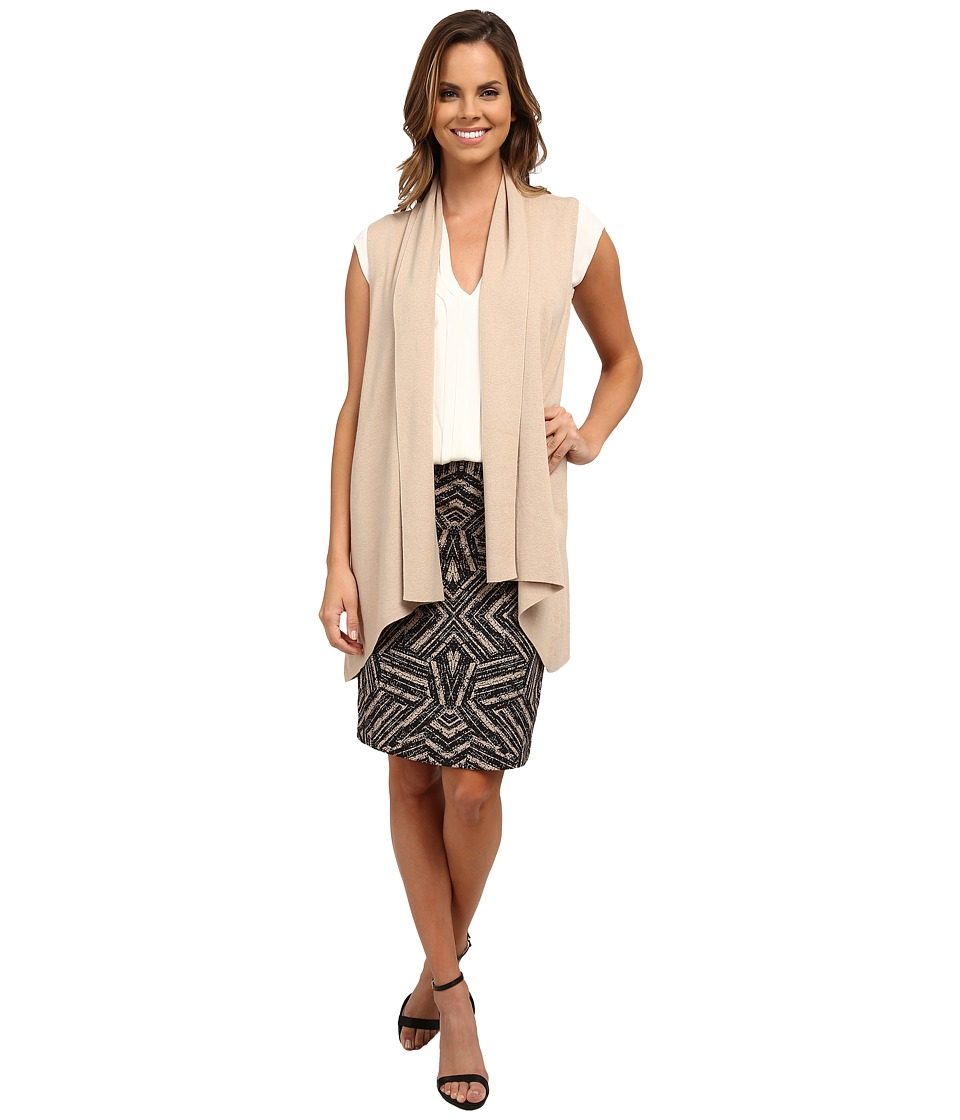 Calvin Klein - Flyaway Sweater Vest (Heather Latte) Women's Vest